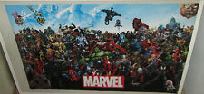 MARVEL SUPER HEROES POSTER 2015 MARVEL DC COMICS LIMITED PRODUCTION RUN