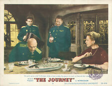 The Journey original 11x14 lobby card Yul Brynner takes shot drink Deborah Kerr