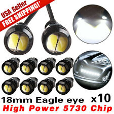 10 x New White 5730 9W 18mm Eagle Eye LED Car Motor DRL Backup Lights bulbs 12V