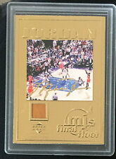MICHAEL JORDAN UD 22KT GOLD CARD LAST GAME 6/14/98 WITH PIECE OF FLOOR