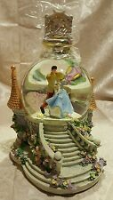 Disney Princess Cinderella Prince Charming Snow Globe Tower Castle Clock w/ box