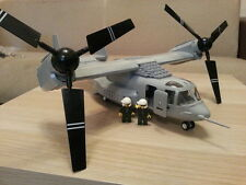 Bell Boeing V 22 Osprey  Helicopter model  Building Blocks 593pcs with Color Box
