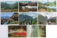 Kanton Bern Postkarten Lot 8x INTERLAKEN Switzerland ungelaufen ca./ab 1970
