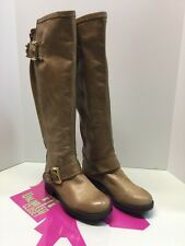 "Wome Steve Madden ""Barton"" Tall Tan/Camel Leather Riding Style Boots Size 5M"