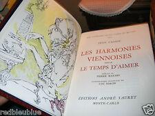 """Jean CASSOU """"Harmonies Viennoises Temps d'Aimer"""" lithos SIMON 1973 Monaco 1/3000"""