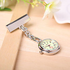 Fluorescent Noctilucent Dial Brooch Clip Quartz Fob Nurse Pocket Watch 1PC