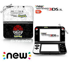 [new 3DS XL] Pokemon Poke Ball Black White  VINYL SKIN STICKER DECAL COVER