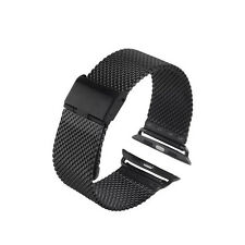 Watch Band Connect Clasp Milanese Loop Strap For 42MM Apple Watch Sport-Black
