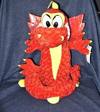 "TOY FACTORY Red Yellow Flying Dragon Plush Stuffed Animal Soft Toy 19""/45"" NWT"