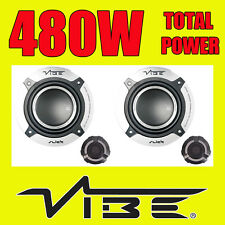 VIBE 480W TOTAL 2WAY 5.25 INCH 13cm CAR DOOR 2WAY COMPONENT SPEAKERS TWEETERS v2