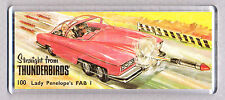 LADY PENELOPE'S FAB1 CAR toy box art WIDE FRIDGE MAGNET - CLASSIC TOY MEMORIES!
