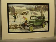 1931 Ford Model A auto   by  artist  in 1973  Esso changed name  to Exxon