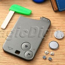 2 Button Remote Smart Repair Kit Key Fob Shell Case For Renault Laguna 2 Battery