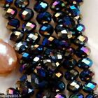 4x6mm Faceted Crystal Glass Rondelle Bead 100pcs
