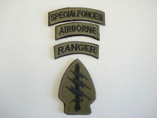 1 set =4 PCS. NEW US SP OP COM (SOCOM) emb patches w/Velcro back