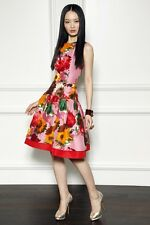 ICONIC GORGEOUS 2DIE4 S'13 Oscar De La Renta floral print silk twill dress
