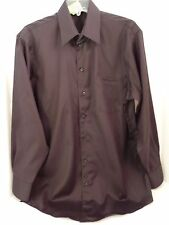 KENNETH COLE BLACK SATIN L/S SHIRT COTTON NON IRON SIZE 15 1/2  32/33 code EE71