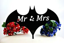 Batman Mr and Mrs Wedding Cake Topper Keepsake Great Gift Party Decor Birthday