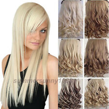 CLEARANCE SALE! Long Clip in Hair Extensions Curly Straight as human hair gd26