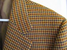 Saint Andrews Hand Tailored Plaid Dual Vent Sport Coat Blazer Jacket 42R WOOL