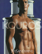 Publicité Advertising 1999  Parfum   KOUROS de YVES SAINT LAURENT