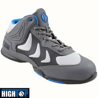 MENS High Top SAFETY WORK BOOTS STEEL MIDSOLE TOE CAP TRAINERS SHOES HIKER SIZE