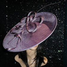 FAILSWORTH FIG MAUVE ASCOT WEDDING DISC HATINATOR HAT MOTHER OF THE BRIDE