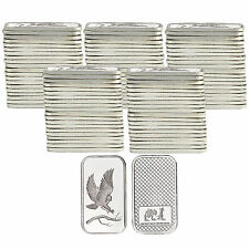 Trademark Bald Eagle 1oz .999 Fine Silver Bars by SilverTowne LOT OF 100