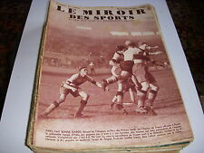 MIROIR des SPORTS 812 19.02.1935 FOOT FRANCE ITALIE RUGBY RACING BAYONNE