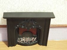 doll house emporium furniture black resin victorian style fireplace 1.12th