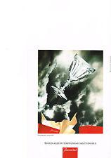 PUBLICITE  1992   BACCARAT CRISTAL  verre HARCOURT