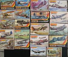 20x MATCHBOX Flugzeug Modellbausätze - 1:72 - Model Kit - Sammlung Konvolut (2)