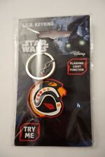 NEW DISNEY STAR WARS ROGUE ONE LED KEY RING WITH FLASHING LIGHT BNWT, Rebel