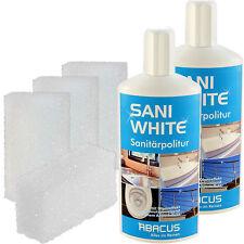 SANI WHITE SET 2x500ml + Zubehör #7273 Sanitärreiniger Abperleffekt Badreiniger