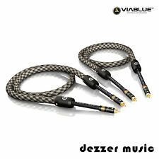 ViaBlue 2x 1m NF-S6 Air Silver Cinch Kabel / RCA 1,00m 1,0m/ High End...Referenz