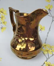 "Vintage Wade pottery Copper Lustre effect JUG PITCHER. Stag Deer. 5.5"" Tall"