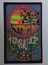 Have A Nice Day Blacklight Poster Pin-up Print Saturn Double Sided Prints UV