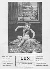 LUX SOAP POWDER - Antique Photographic Print 1903