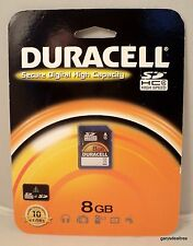 DURACELL Secure Digital High Capacity 8GB SDHC Flash Memory Card DU-SD-8192-C