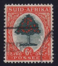 [JSC]1937 South Africa SG61b 6d. Orange Trees stamp