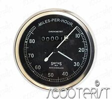 Smith Black Speedometer 80 MPH Royal Enfield/BSA/Norton & 66 Inch Speedo Cable