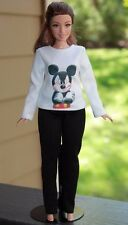 "Clothes for Curvy Barbie Doll. Blouse ""Mickey Mouse"" and leggings for Dolls."