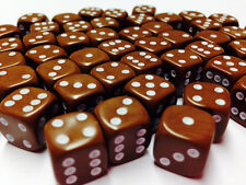 Hobby Marine Space Chaos MTG Wargames BNIB 12mm Opaque Brown Dice D6 x 50