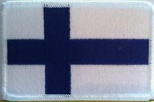 FINLAND Flag Patch With VELCRO® Brand Fastener Military Tactical White Emblem #4
