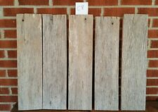 "5 pc RECLAIMED WEATHERED OAK  BARN LUMBER WOOD  CRAFTING 7/8 "" THICK FREE SHIP"