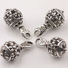 10/20Pcs Tibetan Silver Hollow Out Bead Charm Jewelry Findings Pendants 20*10mm