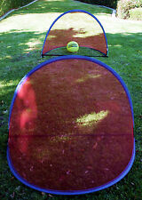 FREESH~ Set of TWO (2) Portable 4 foot Blue/Red Net Pop Up Goals Soccer Sports