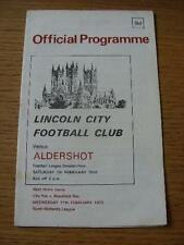07/02/1970 Lincoln City v Aldershot  (Slight Crease & Pen Mark On Back). No obvi