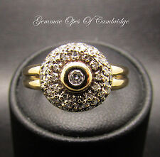 9ct Gold 0.3ct Diamond Cluster Ring Size Q 1/2 3.6g