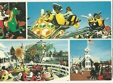 Marriotts Great America Amusement Park  4 rides Gurnee IL Illinois  Postcard